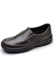 7e1de2362 ... Sapato Social Masculino Top Franca Shoes Ortopedico Conforto Cafe