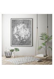 Quadro Com Moldura Chanfrada Abstrato Cinza Grande