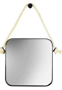 Espelho Sydney Quadrado 40Cm Industrial Spido