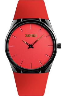 Relógio Skmei Analógico 1601S - Vermelho E Preto