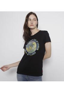 """Camiseta Levi'Sâ® """"Califã³Rnia""""- Preta & Verdelevis"""