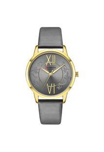 Relógio Curren Analógico C9049L Dourado E Cinza
