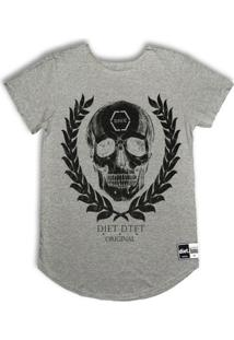 Camiseta Longline Skull Arch - Masculino
