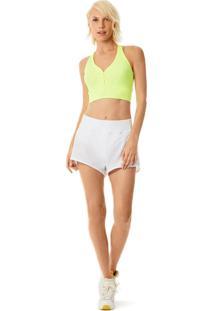 Shorts Morena Rosa Boxer Com Calcinha Hot Pants Branco