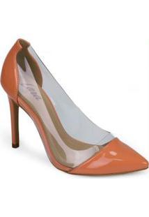 Sapato Scarpin Lara Vinil Coral