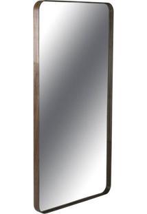 Espelho Retangular Pereque Com Moldura Lamina Nogueira 135 Cm (Alt) - 435044 - Sun House