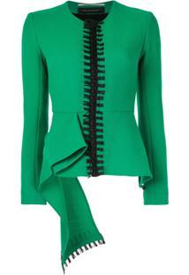Roland Mouret Blazer Com Detalhe De Bordado - Verde
