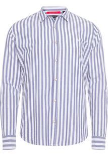 Camisa Masculina Regular Cordoba - Azul