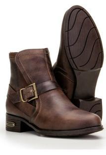 Bota Coutry Em Couro Capelli Boots Feminina - Feminino-Cafe