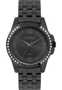 Relógio Analógico Condor Feminino - Co2035Kwr4P Preto - Único