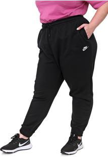 Calça Moletom Nike Sportswear Jogger Nsw Essntl Flc Plus Preta - Kanui