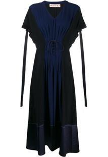 Marni Vestido Com Espartilho - Azul