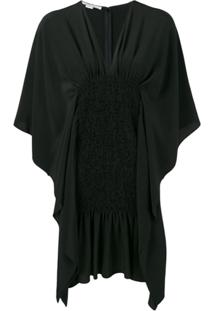 Stella Mccartney Vestido Com Drapeado - Preto