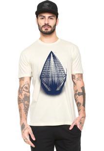 Camiseta Volcom Manga Curta Yarn Off-White