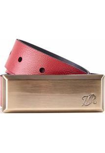 Cinto Cintura/Quadril Reto Color Vermelho - M