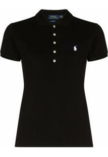 Polo Ralph Lauren Camiseta Polo Com Mangas Curtas - Preto