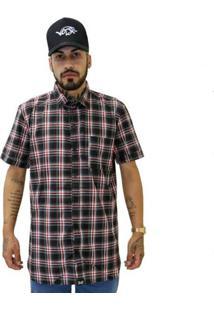 Camisa Verse Limited Long Zíper Xadrez Vermelho/Preto