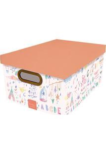 Caixa Organizadora Média Criança Feliz - Dello - Estampado