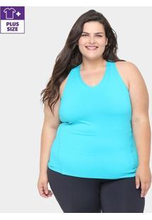 Regata Plus Size Gonew Feminina - Feminino-Azul Piscina