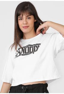 Blusa Snoopy Tachas Branca - Kanui