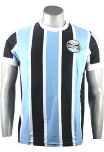 Camiseta Masculina Grêmio Retro 1972 Natural Cotton