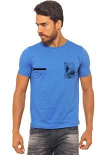 Camiseta Joss - Capoeira 2 - Masculina - Masculino-Azul