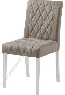 Cadeira Menta Estofada Tecido 100% Polieste Bege - 36191 Sun House