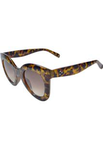 Óculos De Sol Mackage Acetato Feminino Oversize Redondo Retrô - Tarta - Kanui