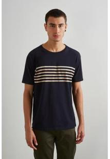 Camiseta Reserva Linho Masculino - Masculino-Bege