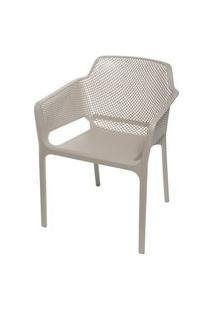 Cadeira Net Nard Empilhavel Polipropileno Com Braco Cor Fendi - 53569 Fendi