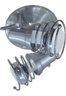 Spot De Sobrepor Em Alumínio Para 2 Lâmpadas 60W 110V Lixado