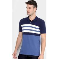 Camisa Polo Calvin Klein Listrada Masculina - Masculino 044e6c06aeaa9