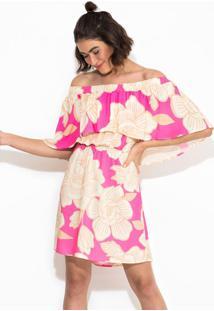 Vestido Curto Floral Praiano Rosa