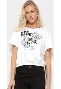 Camiseta Sommer Lost In Paradise Feminina - Feminino-Off White