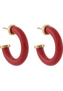 A.P.C. Hoop Earrings - Vermelho