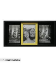 Painel Slide Para 3 Fotos- Preto & Amarelo- 19X38X6Ckapos