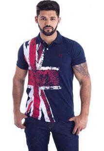 a1c4332ad2a08 ... Camisa Polo Live England Azul Marinho 427-03 - G