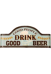 Placa De Metal Decorativa Vintage Drink Beer