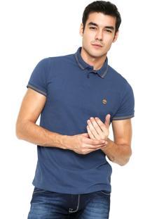 Camisa Polo Timberland Stripes Azul