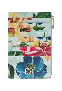 Dolce & Gabbana Carteira Com Estampa Floral - Azul