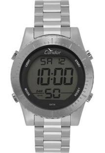 Relógio Condor Casual Digital Masculino - Masculino-Prata
