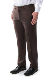 Calça 6191 Social Marrom Traymon Masculina Modelagem Regular