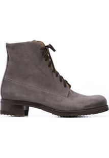 Gravati Ankle Boot Com Amarração - Cinza