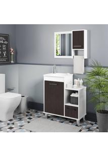 Conjunto De Banheiro Stm Moveis D80 Branco Scheffield Se