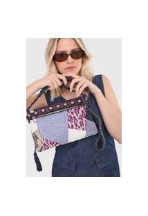 Bolsa Desigual Across Body Bag Azul-Marinho/Off-White