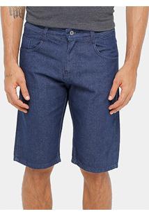 Bermuda Jeans Rockblue Escura Tradicional Masculina - Masculino