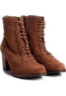 b4e1b3ef8 ... Bota Couro Coturno Shoestock Tratorada Feminina