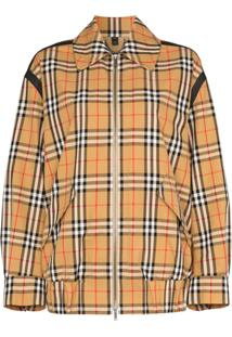 Burberry Jaqueta Com Vintage Check - Marrom