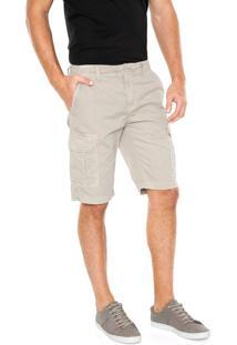 Bermuda Sarja Calvin Klein Jeans Bolsos Bege