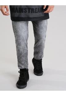 Calça Jeans Skinny Em Moletom Com Algodão + Sustentável Preta
